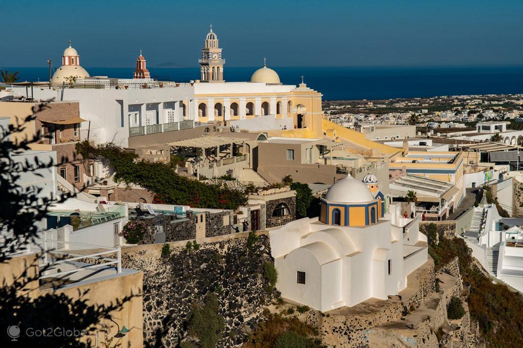 Cimo religioso de Thira, Santorini, Grécia