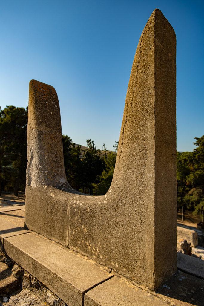 Símbolo da civilização minóica, Palácio de Cnossos, Creta, Grécia