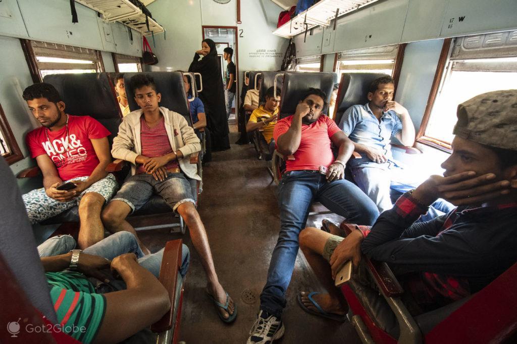Passageiros, Comboio Ella Kandy, Sri Lanka