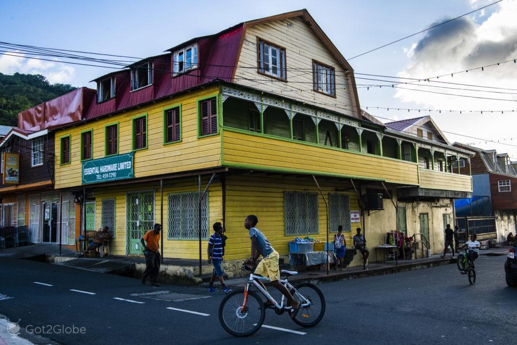 Cena de rua, Soufrière, Saint Lucia