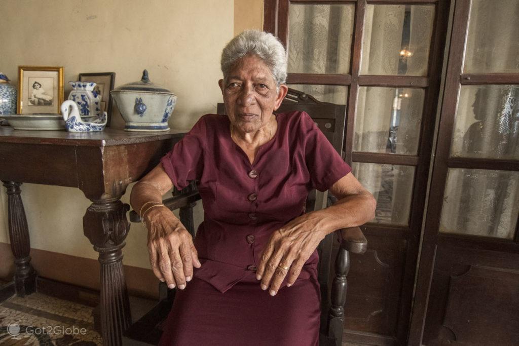 Dª Áurea Bragança Pereira, Casa Menezes Bragança, Chandor, Goa, India
