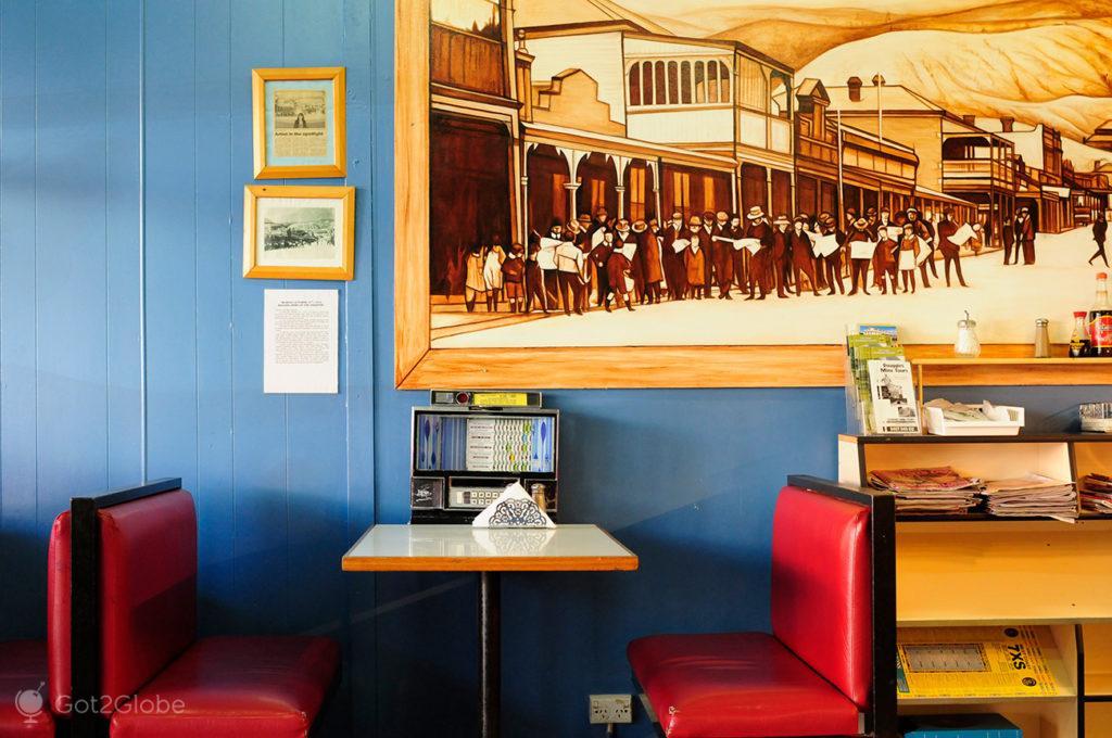 Restaurante de Queenstown, Tasmânia, Austrália