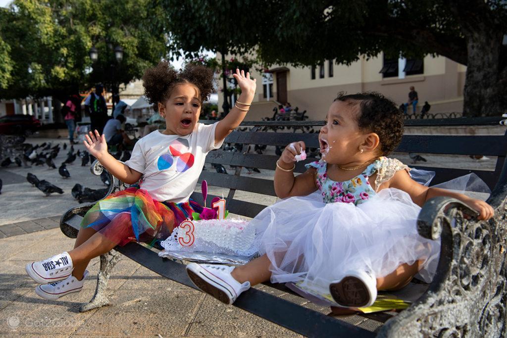 Irmãs aniversariantes no Parque Independência, Puerto Plata, Rep. Dominicana