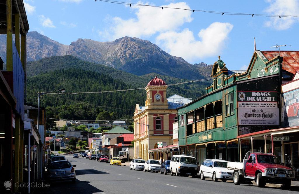 Main-Street, Queenstown, Tasmania, Australia