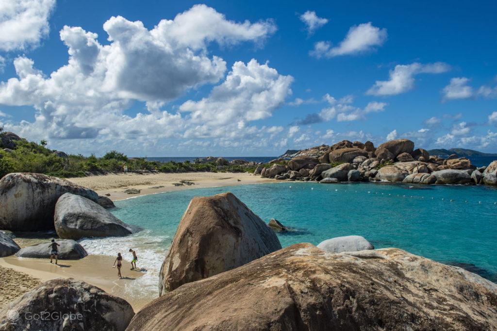 Banhistas, Devil's Bay (The Baths) National Park, Virgen Gorda, Ilhas Virgens Britânicas