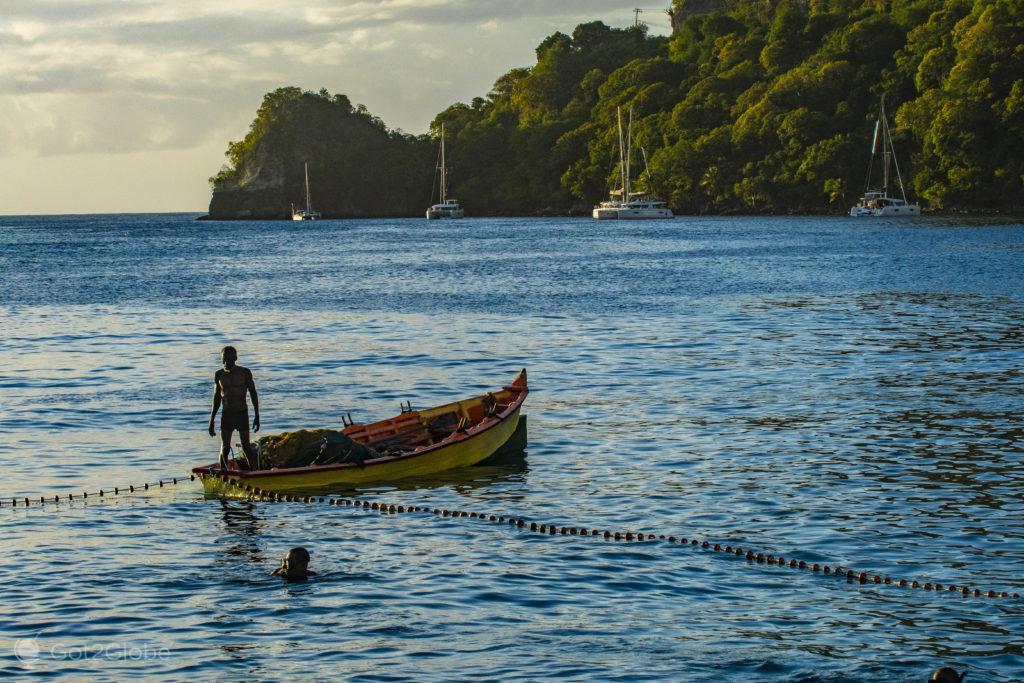 Pesca à rede, Soufrière, Saint Lucia