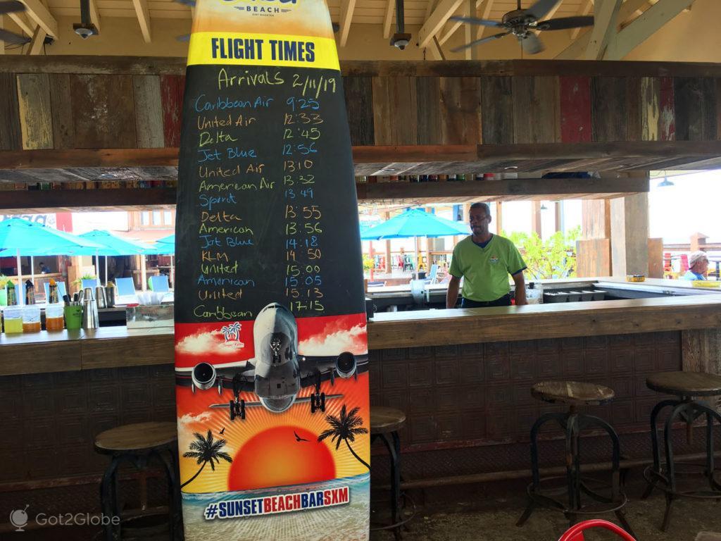Flight Times, Sunset Beach Bar, Maho Beach, Sint Maarten.