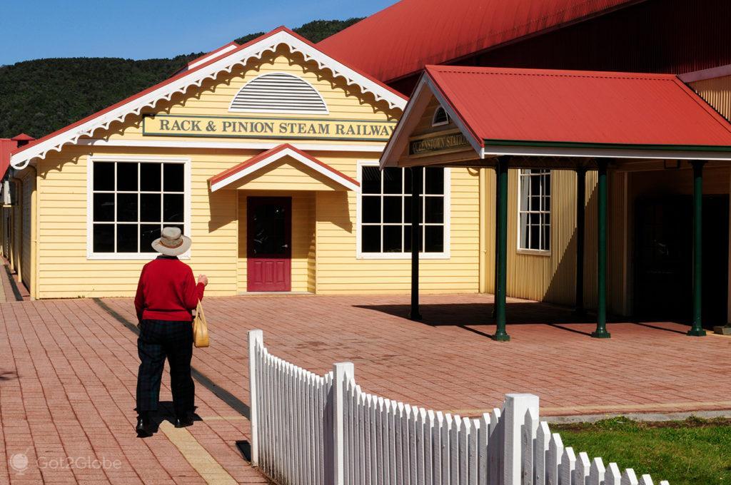 Rack-&-Pinion-Steam-Railway. Queenstown, Tasmania, Austrália