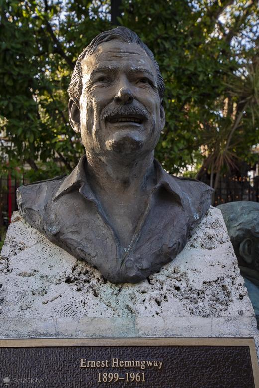 Busto Ernest Hemingway, Key West, Florida, Estados Unidos