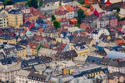 Casario tradicional, Bergen, Noruega