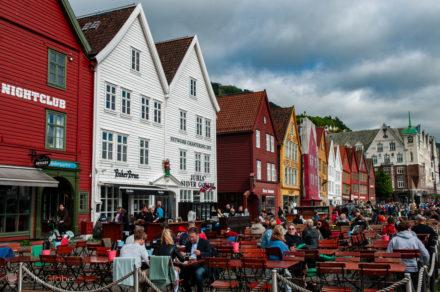 Esplanada, Bryggen, Bergen, Noruega