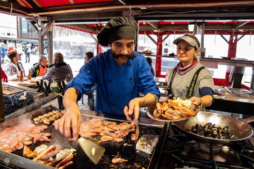 Jorge Maciel, Mercado do Peixe, Bergen, Noruega