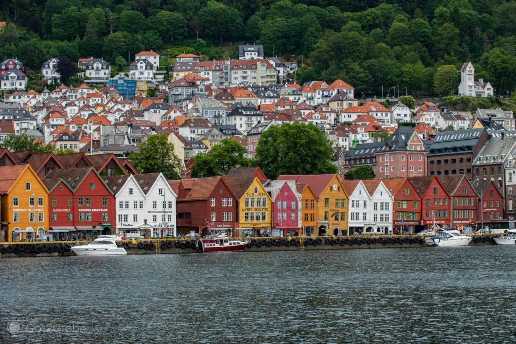 Panoramica, Bryggen, Bergen, Noruega