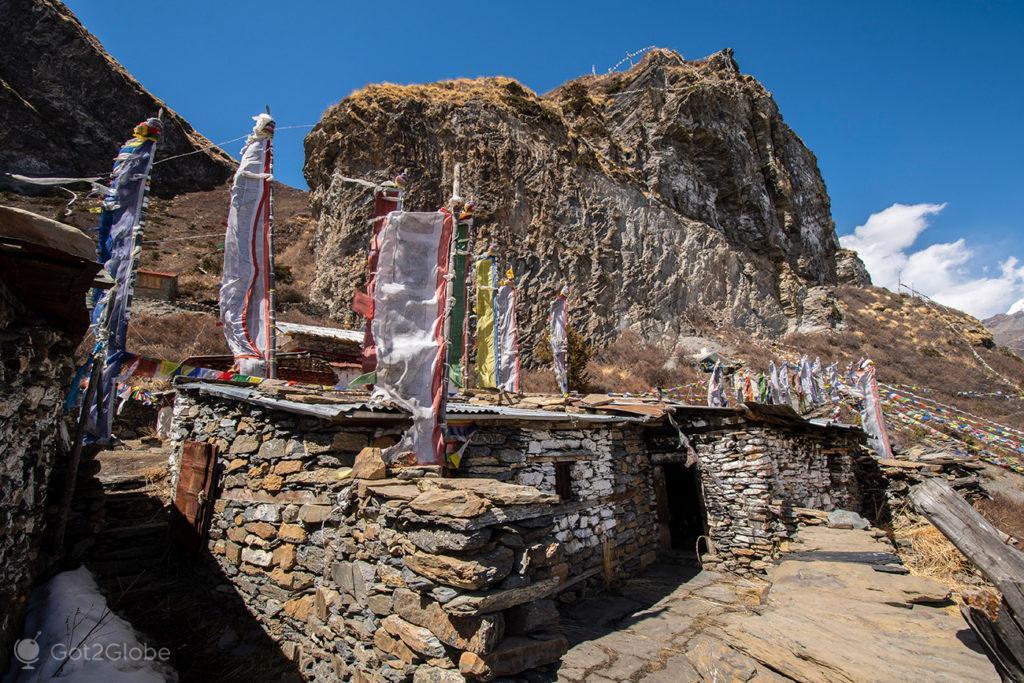 Gompa, Gruta de Milarepa, Circuito Annapurna, Nepal