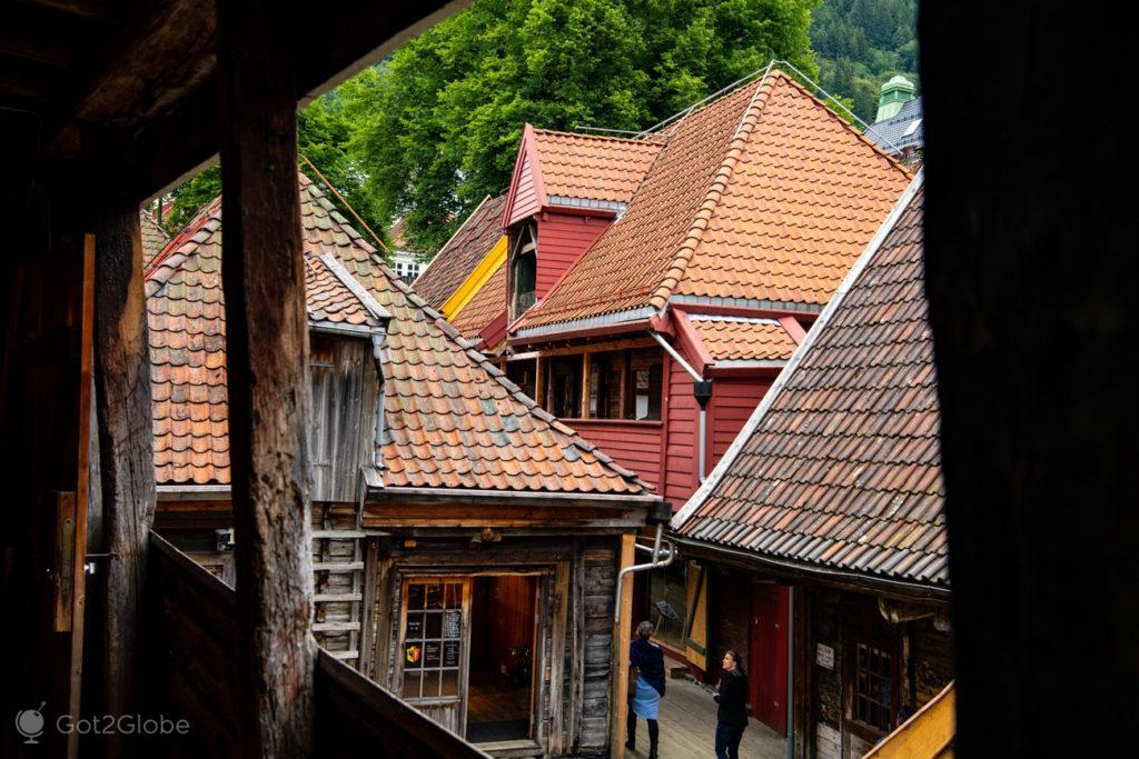 Telhados, Bryggen, Bergen, Noruega