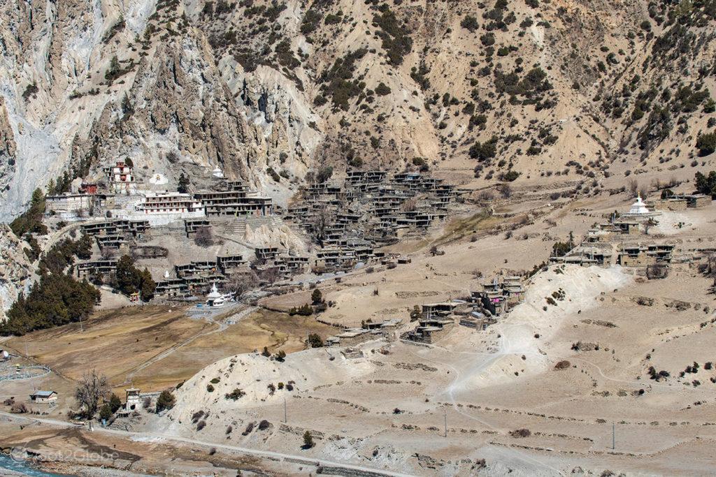 Vista de Braga (Brakka), circuito Annapurna, Nepal