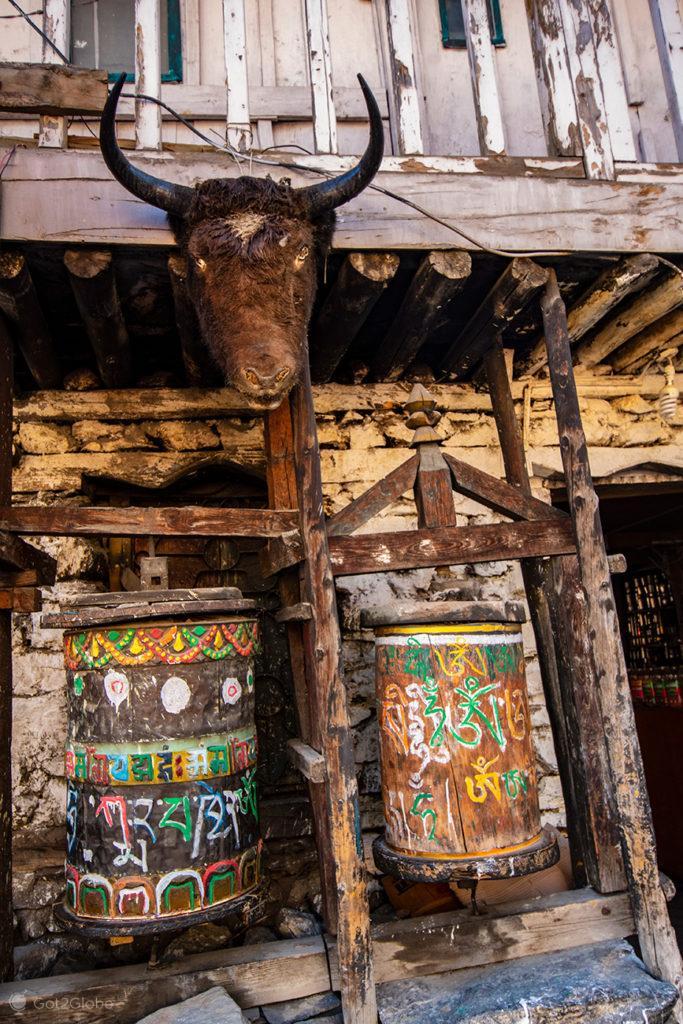 Rodas de oração, Circuito Annapurna, Nepal