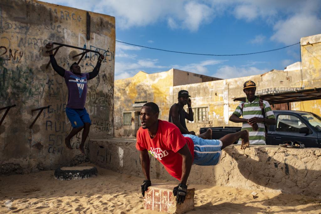 Exercício, Ilha da Boa Vista, Cabo Verde, Sal a Evocar o Sara