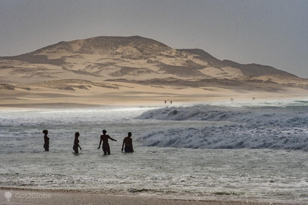 Praia de Chaves, Ilha da Boa Vista, Cabo Verde, Sal, a Evocar o Sara