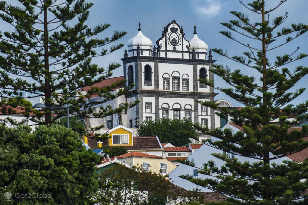 Igreja Santíssimo Salvador. Horta, Faial, Cidade que dá o Norte ao Atlântico