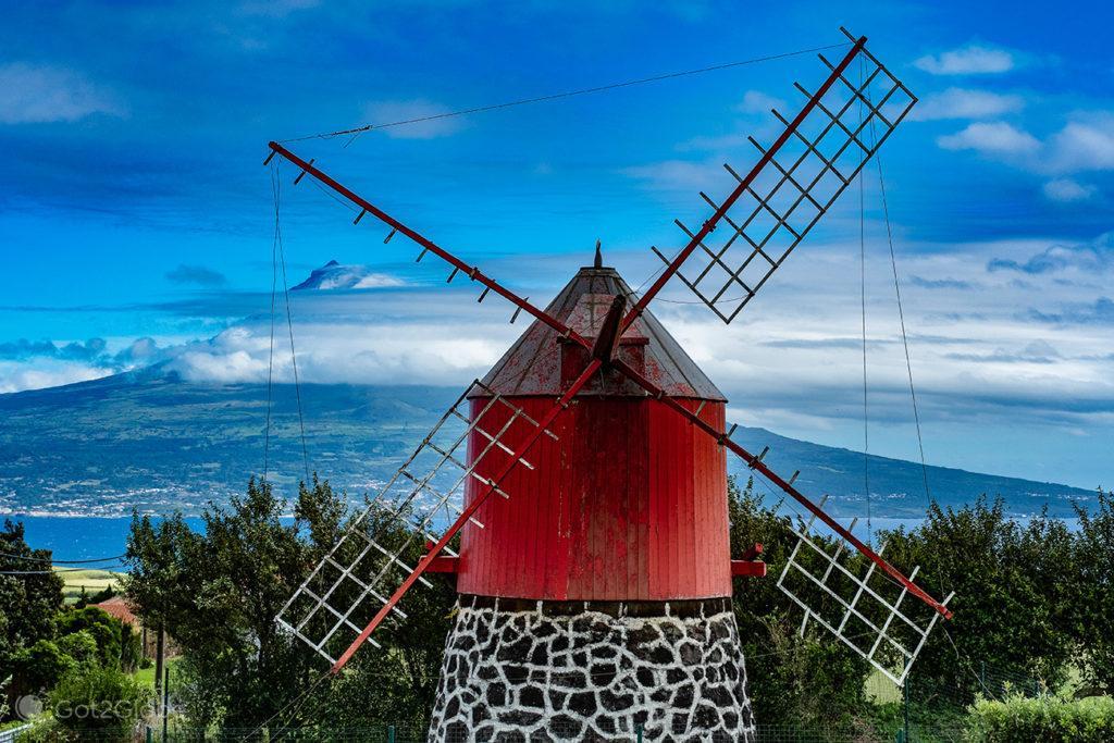 Moinho vento, Horta, Faial, Cidade que dá o Norte ao Atlântico