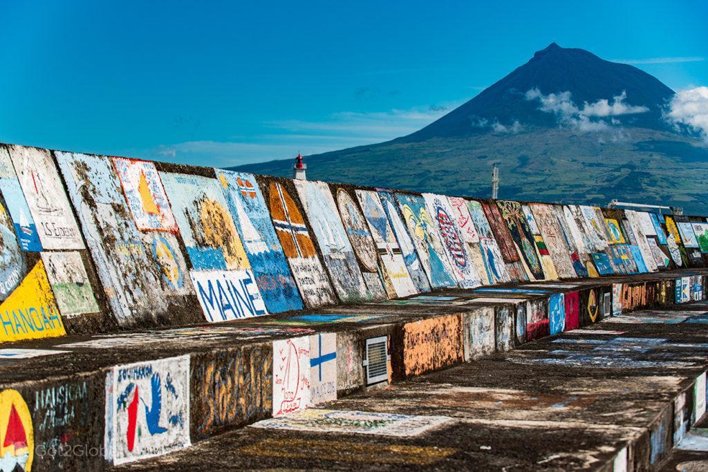 Pinturas murais, Horta, Faial, Cidade que dá o Norte ao Atlântico