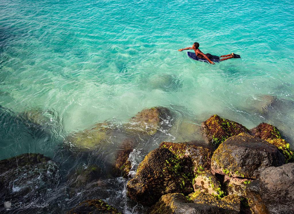 Santa Maria, ilha do Sal, Cabo Verde, body board
