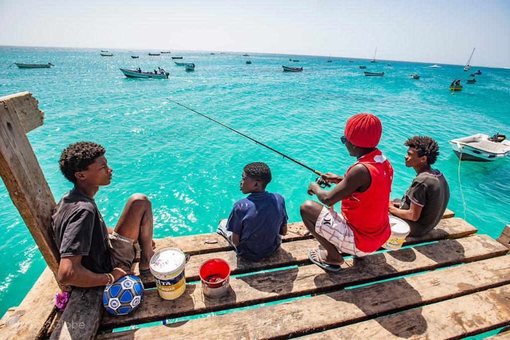 Santa Maria, ilha do Sal, Cabo Verde, pesca em grupo