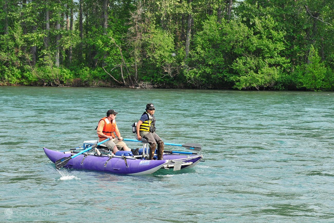 Rio Kasilof, Alasca, de Homer em Busca de Whittier