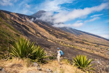 Vertente leste do vulcão, Ilha do Fogo, Cabo Verde