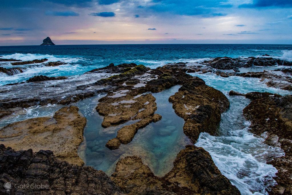 Piscinas naturais de Porto Salemas, Ilha Porto Santo, Portugal