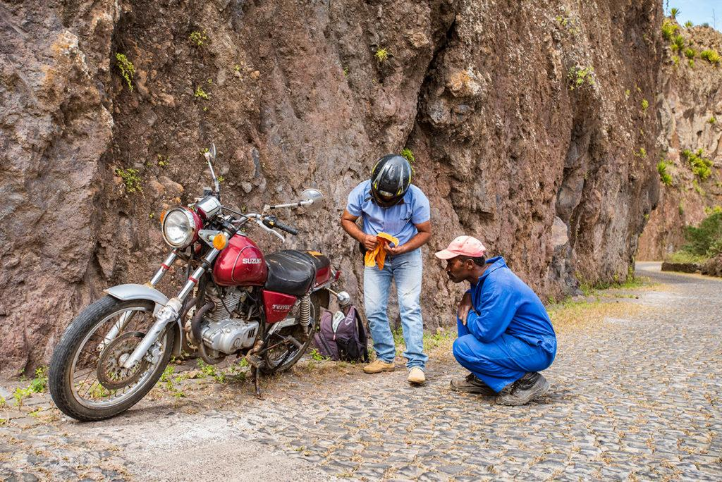 Avaria no Delgadinho, Santo Antão, Cabo Verde