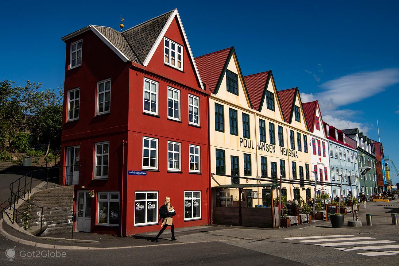 Torshavn, Ilhas Faroe, rua Undir Bryggjubakka