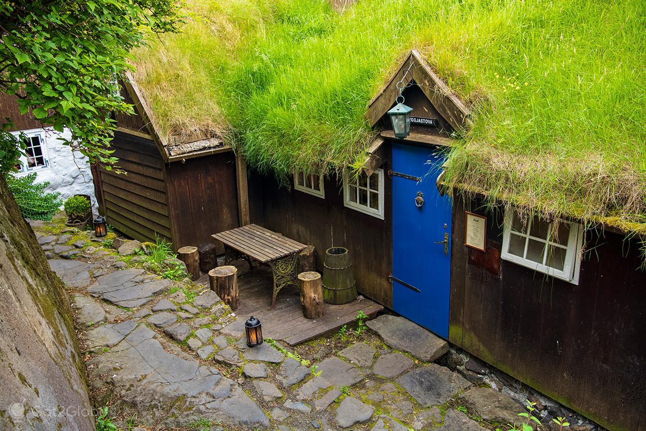 Torshavn, Ilhas Faroe, casa tradicional
