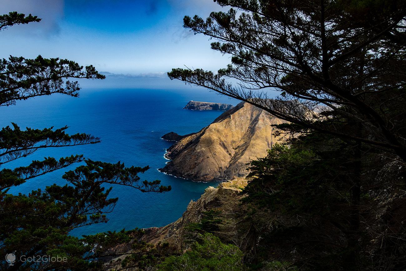Porto Santo, vista para sul do Pico Branco