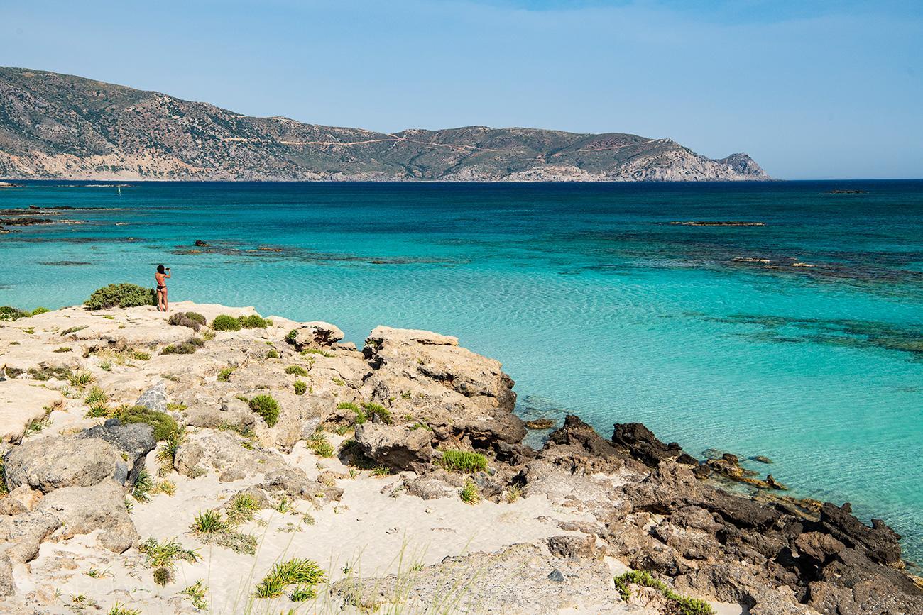 Baía, Elafonisi, Creta, Grécia