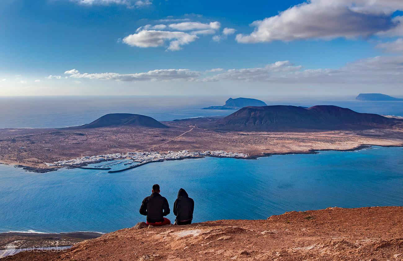 Vista de La Graciosa de Lanzarote, Canárias, Espanha