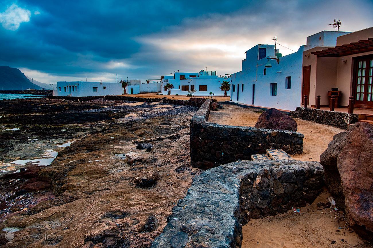 Casario de Caleta del Sebo, La Graciosa, Ilhas Canárias, Espanha