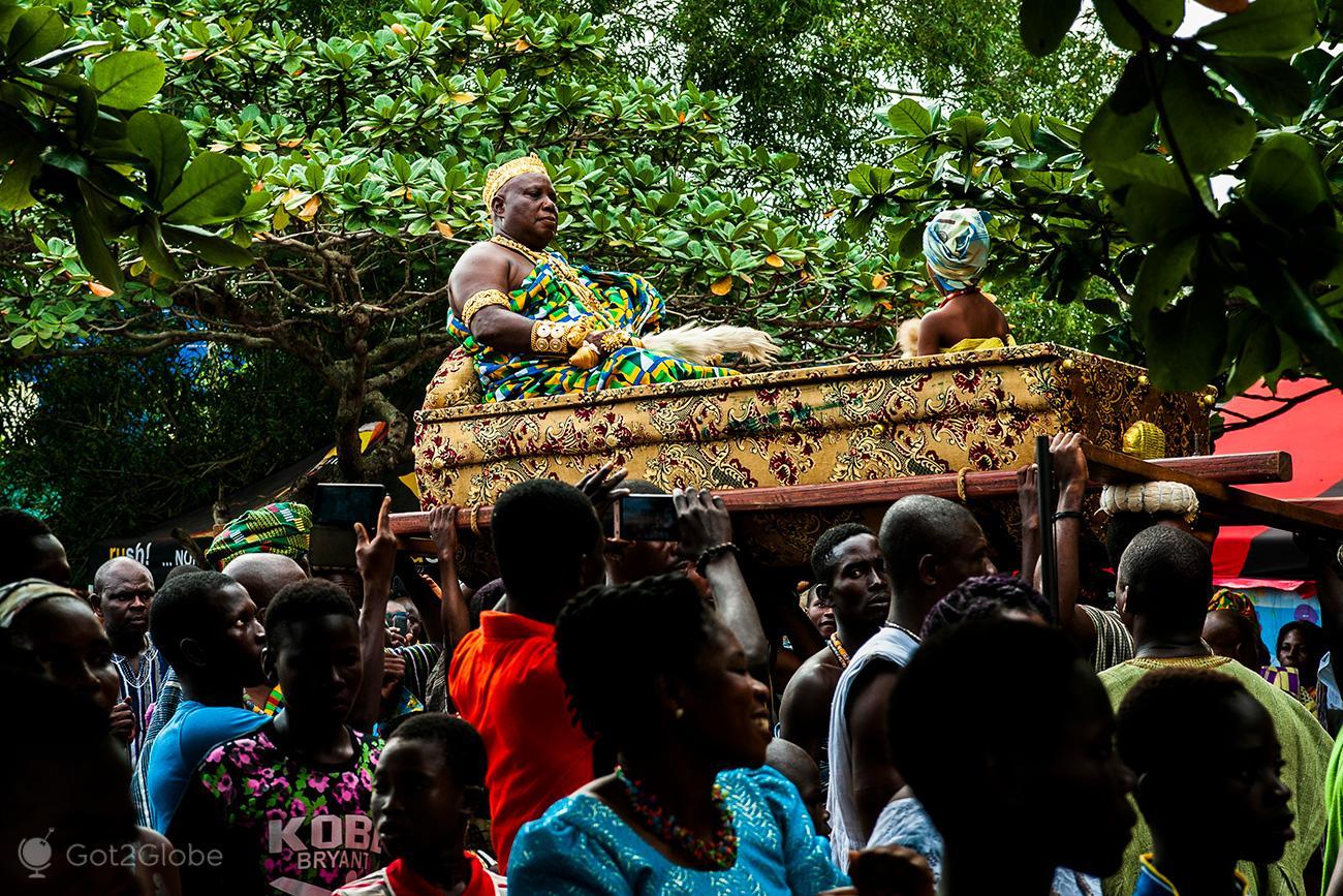 Kente Festival Agotime, Gana, chefe tribal
