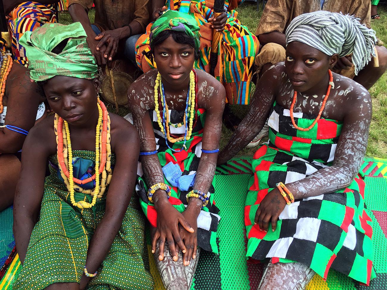 Kente Festival Agotime, Gana, jovens participantes