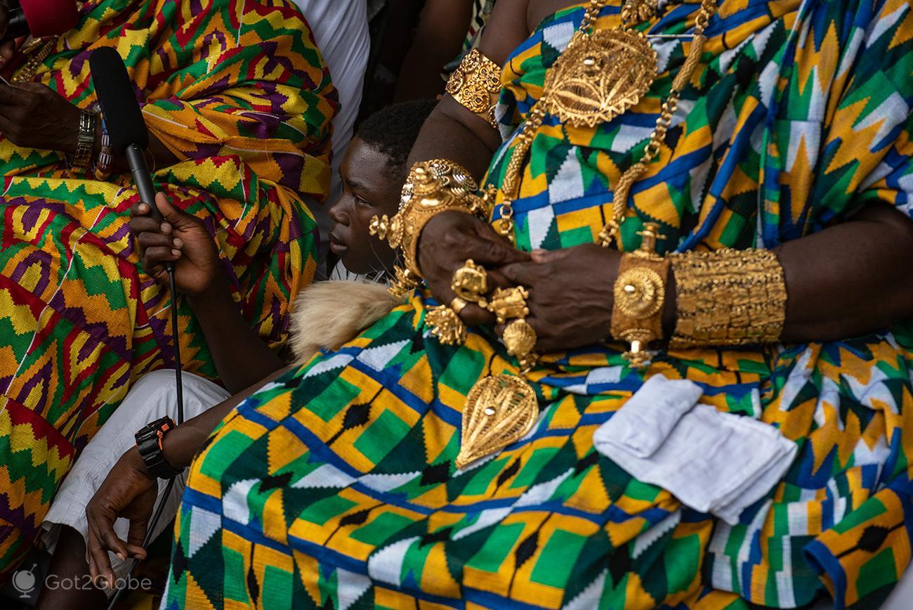 Kente Festival Agotime, Gana, ouro