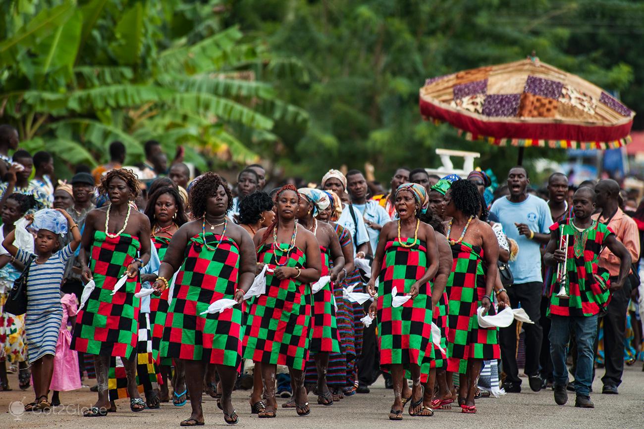 Kente Festival Agotime, Gana, parada