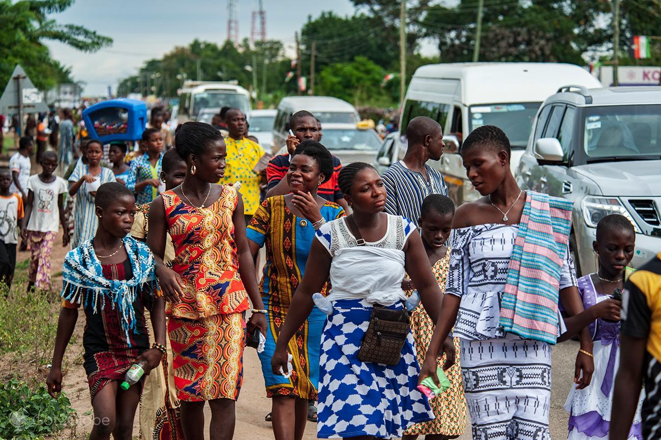Kente Festival Agotime, Gana, de regresso