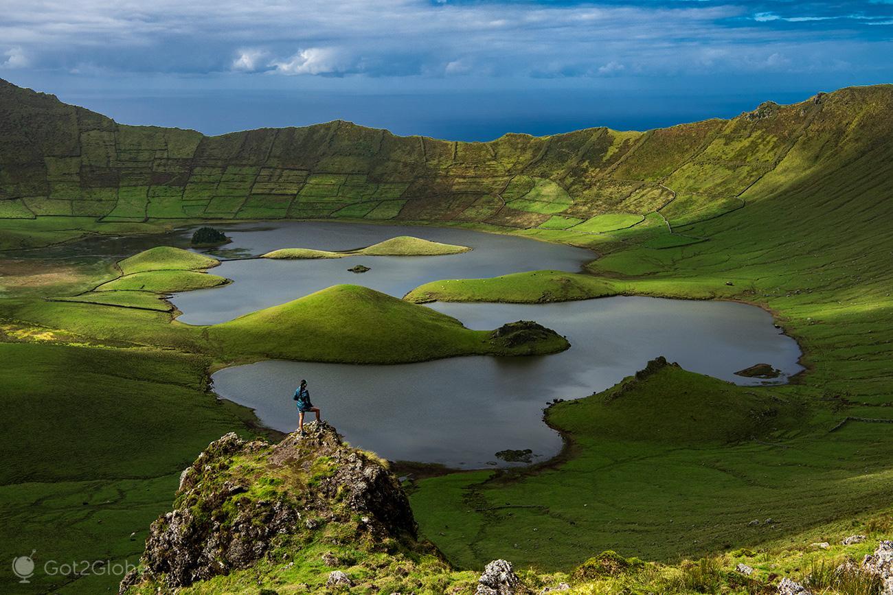 Caldeirão da Ilha do Corvo, Açores,