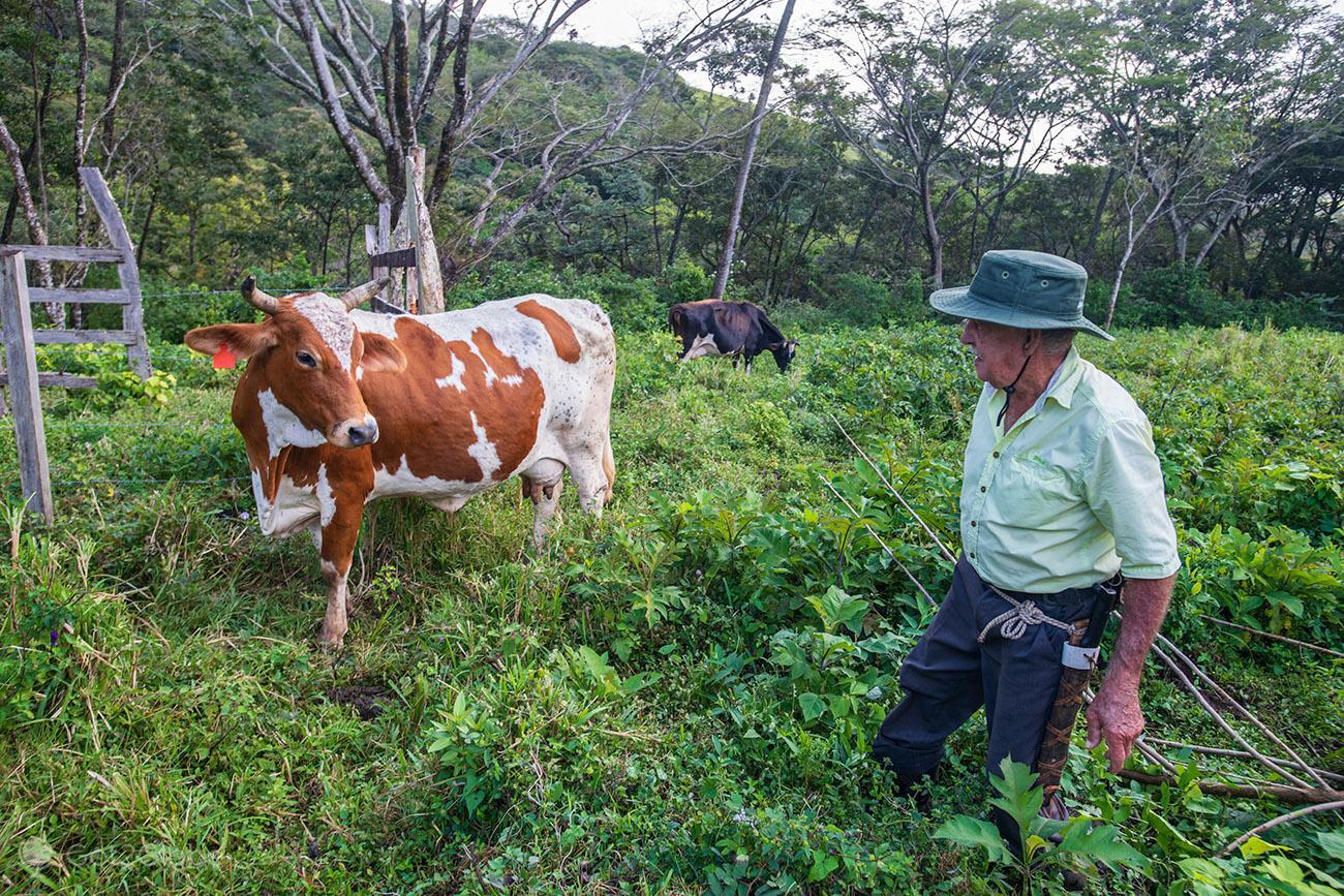 Camponês da zona de Miravalles, Costa Rica